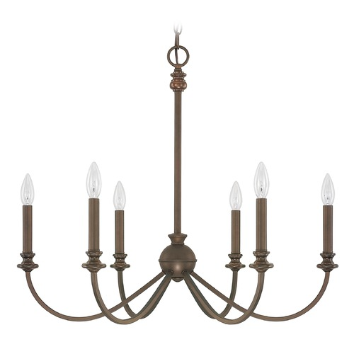 Capital Lighting Capital Lighting Alexander Burnished Bronze Chandelier 4746BB-000
