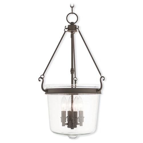 Livex Lighting Livex Lighting Winchester Bronze Pendant Light with Bowl / Dome Shade 50496-07