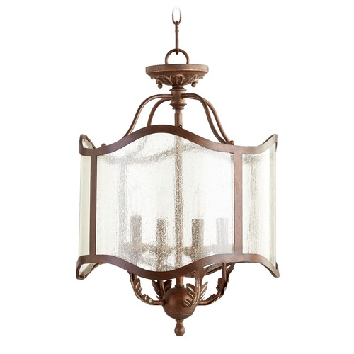 Quorum Lighting Quorum Lighting Salento Vintage Copper Pendant Light with Drum Shade 2906-16-39