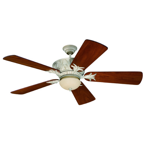 Craftmade Lighting Craftmade Lighting Pavilion Antique White Distressed Ceiling Fan with Light K11246
