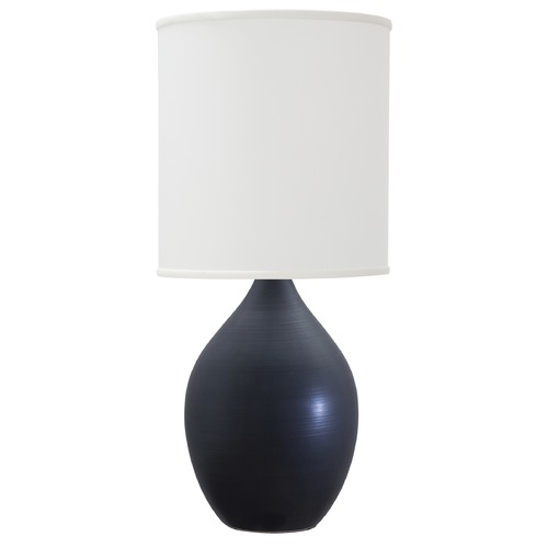 House of Troy Lighting House Of Troy Scatchard Black Matte Table Lamp with Cylindrical Shade GS301-BM