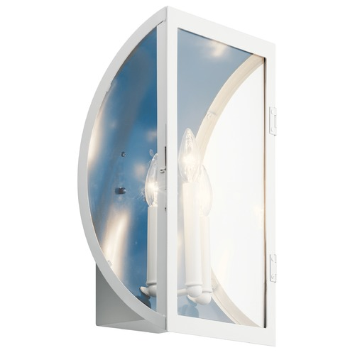 Kichler Lighting Narelle Large White Outdoor Wall Light with Clear Glass 49288WH