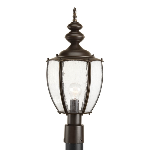 Progress Lighting Post Light with Clear Glass in Antique Bronze Finish P6417-20