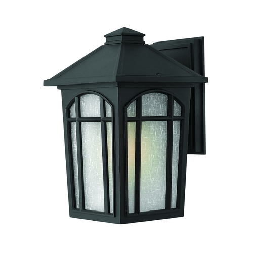 Hinkley Lighting LED Outdoor Wall Light with White Glass in Black Finish 1984BK-LED