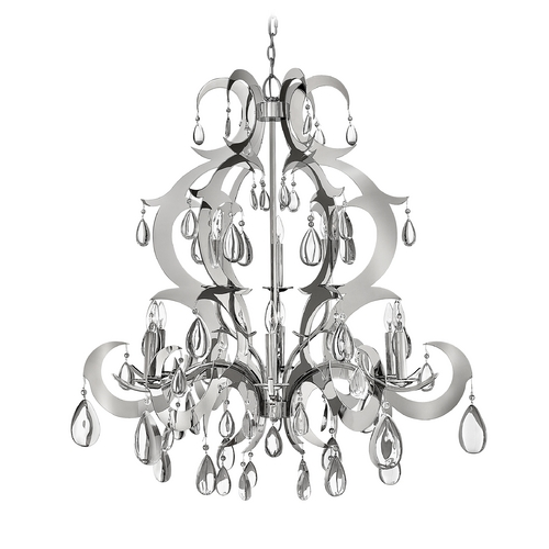 Frederick Ramond Crystal Chandelier in Polished Stainless Steel Finish FR43358PSS