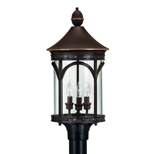 Hinkley Lighting Post Light with Clear Glass in Copper Bronze Finish 2317CB