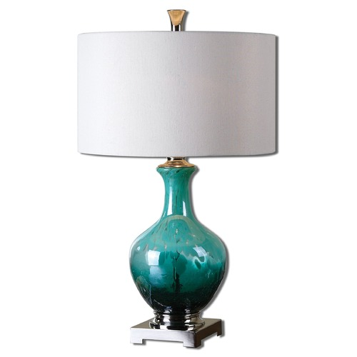 Uttermost Lighting Uttermost Yvonne Green Blue Glass Table Lamp 26770-1