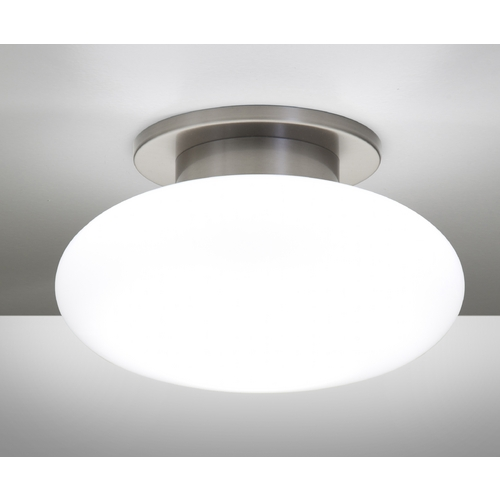 Holtkoetter Lighting Holtkoetter Modern Semi-Flushmount Light with White Glass in Satin Nickel Finish 5401 SN SW