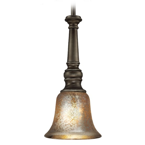 Sea Gull Lighting Sea Gull Lighting Blayne Platinum Oak Mini-Pendant Light with Bell Shade 6170401-736