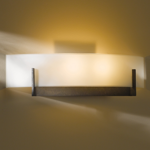 Hubbardton Forge Lighting Hubbardton Forge Lighting Axis Dark Smoke Sconce 206401-07-G324