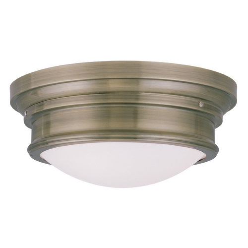 Livex Lighting Livex Lighting Astor Antique Brass Flushmount Light 7343-01