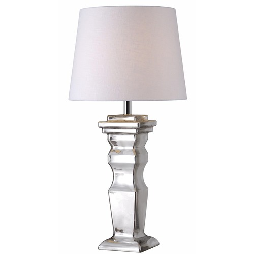 Kenroy Home Lighting Kenroy Home Lighting Robinson Mercury Glass Table Lamp with Empire Shade 32595MER