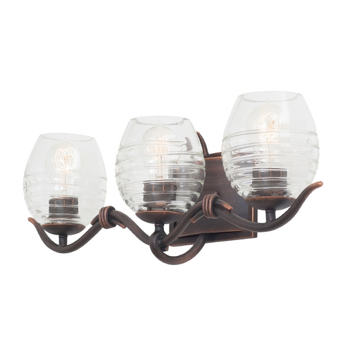 Kalco Lighting Kalco Lighting Seabrook Antique Copper Bathroom Light 7353AC