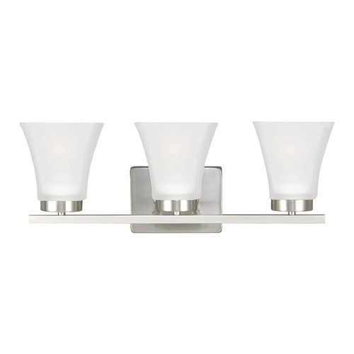 Sea Gull Lighting Sea Gull Lighting Bayfield Brushed Nickel Bathroom Light 4411603-962