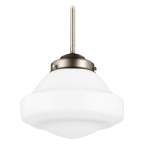 Feiss Lighting Feiss Alcott Satin Nickel LED Mini-Pendant Light P1377SN-LED