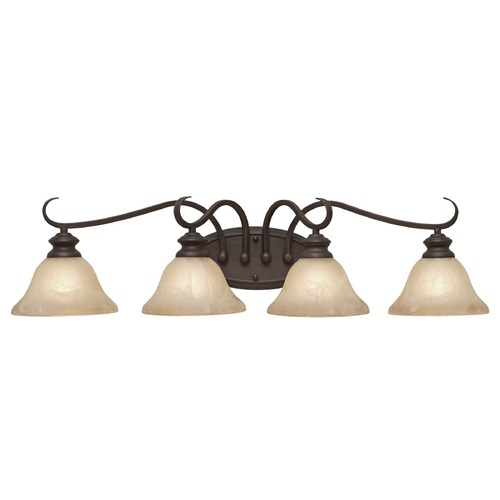 Golden Lighting Golden Lighting Lancaster Rubbed Bronze Bathroom Light 6005-BA4 RBZ