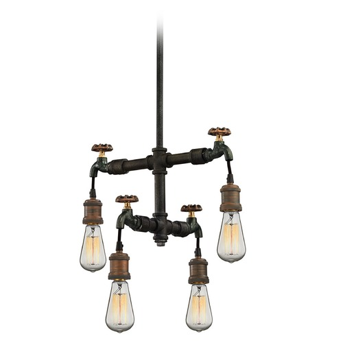 Elk Lighting Elk Lighting Jonas Weathered Multitone Pendant Light 14287/4