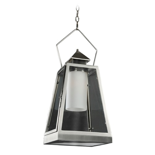 Kalco Lighting Kalco Shorecrest Brushed Stainless Steel Outdoor Hanging Light 400510SL