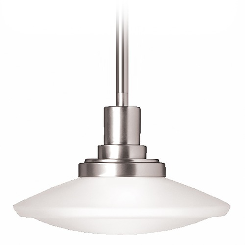 Kichler Lighting Kichler Modern Mini-Pendant Light with White Glass 2655NI