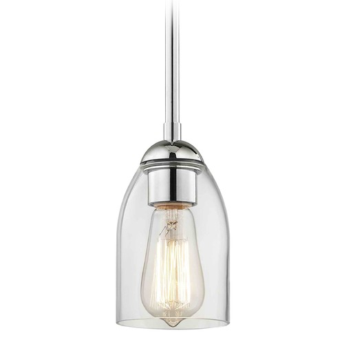 Design Classics Lighting Design Classics Gala Fuse Chrome Mini-Pendant Light with Bowl / Dome Shade 581-26 GL1040D