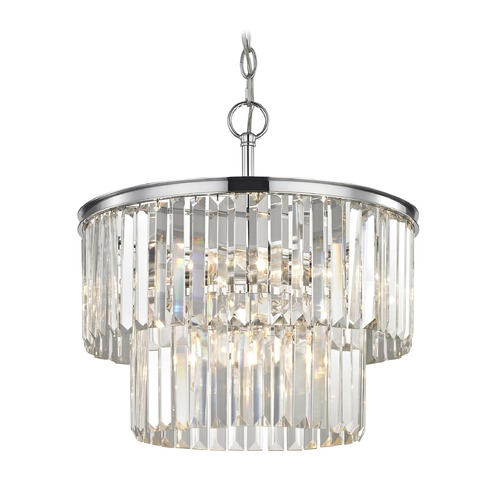 Ashford Classics Lighting Two Tiered Crystal Chandelier Chrome 1823-26