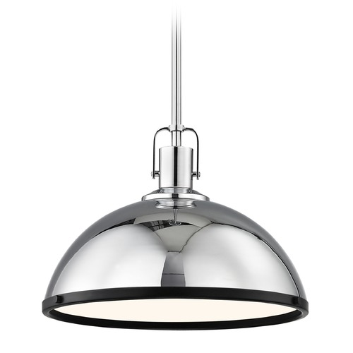 Design Classics Lighting Nautical Pendant Light Chrome with 13.38-Inch Wide 1762-26 SH1776-26 R1776-07
