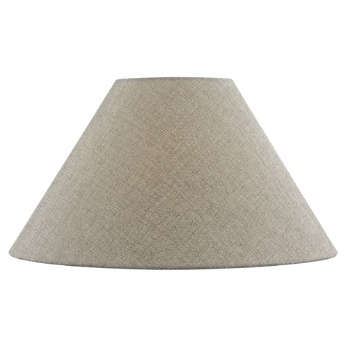 Design Classics Lighting Dark Burlap Coolie Fabric Lamp Shade with Spider Assembly SH9701