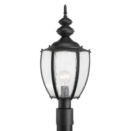 Progress Lighting Post Light with Clear Glass in Black Finish P6417-31