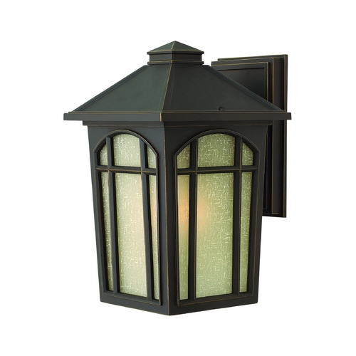 Hinkley Lighting Outdoor Wall Light with White Glass in Oil Rubbed Bronze Finish 1984OZ