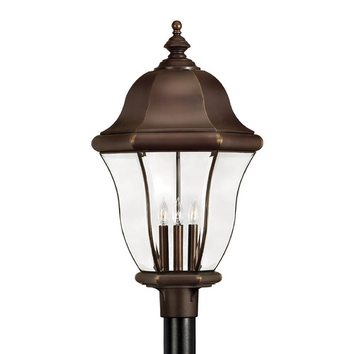 Hinkley Lighting Post Light with Clear Glass in Copper Bronze Finish 2337CB