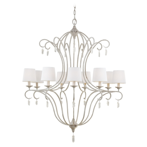 Feiss Lighting Feiss Lighting Caprice Chalk Washed Chandelier F2934/9CHKW