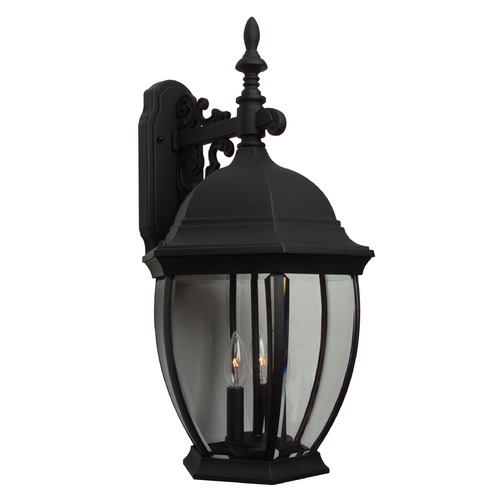 Craftmade Lighting Craftmade Lighting Bent Glass Matte Black Outdoor Wall Light Z584-05