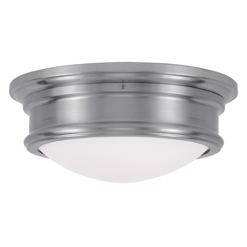 Livex Lighting Livex Lighting Astor Brushed Nickel Flushmount Light 7342-91