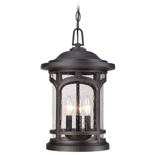 Quoizel Lighting Quoizel Marblehead Palladian Bronze Outdoor Hanging Light MBH1911PN