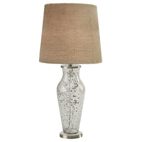 Kenroy Home Lighting Kenroy Home Lighting Sahara Clear Sand Table Lamp with Empire Shade 32439CLRS