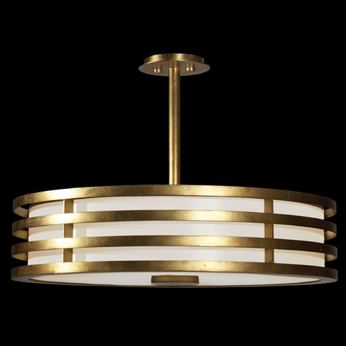 Fine Art Lamps Fine Art Lamps Portobello Road Dor Gold Pendant Light with Drum Shade 445840ST