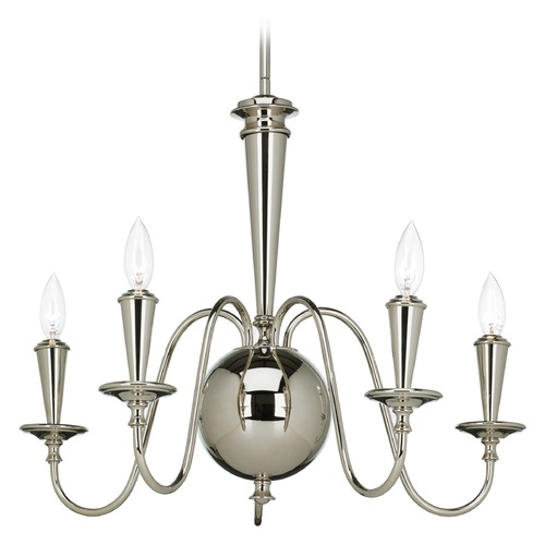 Progress Lighting Progress Lighting Identity Polished Nickel Chandelier P4713-104