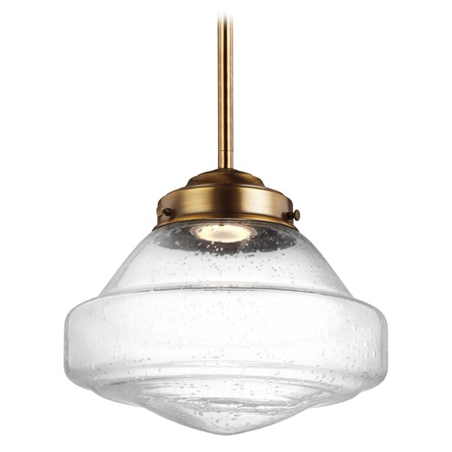 Feiss Lighting Feiss Alcott Aged Brass LED Mini-Pendant Light P1378AGB-LED