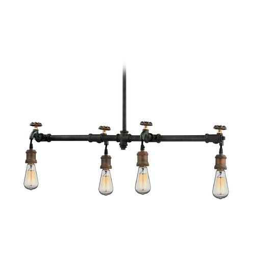 Elk Lighting Elk Lighting Jonas Weathered Multitone Island Light 14288/4