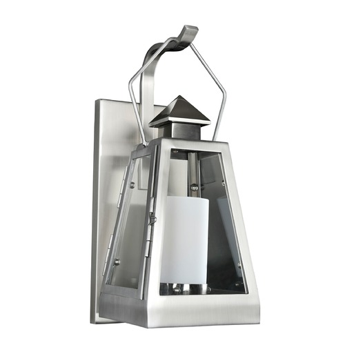 Kalco Lighting Kalco Shorecrest Brushed Stainless Steel Outdoor Wall Light 400520SL