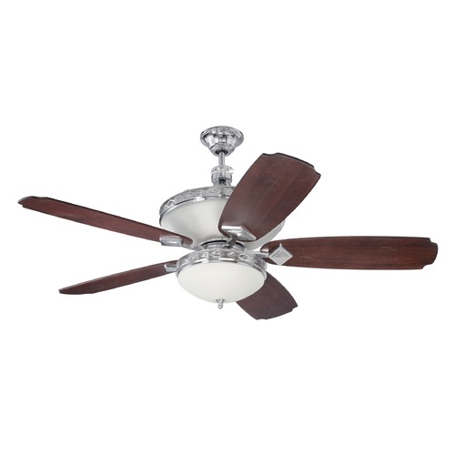 Craftmade Lighting Craftmade Lighting Saratoga Chrome Ceiling Fan with Light K11249