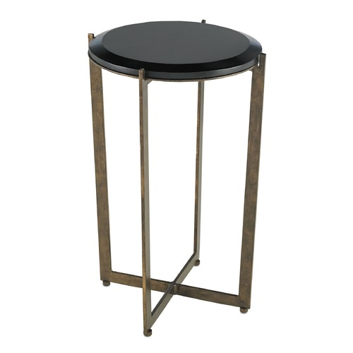 Currey and Company Lighting Currey and Company Galbi Cupertino / Black Accent Table 4194