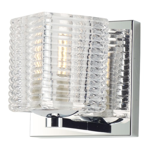 Maxim Lighting Maxim Lighting Groove Polished Chrome LED Sconce 9071CRPC