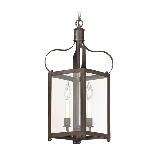 Troy Lighting Pendant Light with Clear Glass in Natural Rust Finish F8920NR