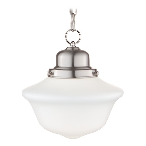 Hudson Valley Lighting Mini-Pendant Light with White Glass 1609-SN