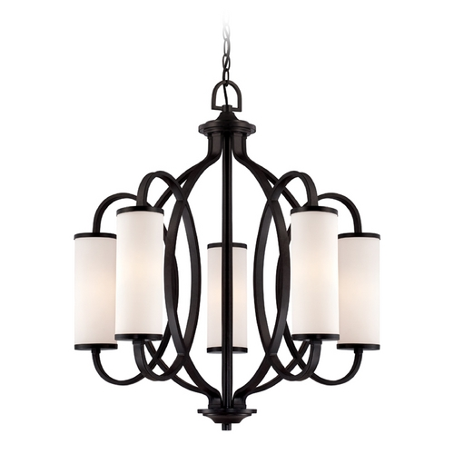 Designers Fountain Lighting Modern Chandelier with White Glass in Artisan Finish 84485-ART
