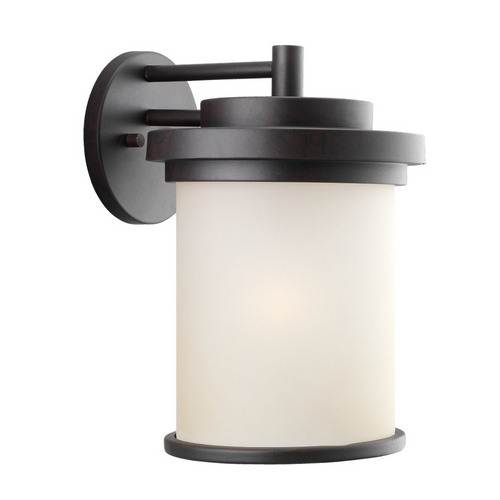 Sea Gull Lighting Modern Outdoor Wall Light in Misted Bronze Finish 88662-814