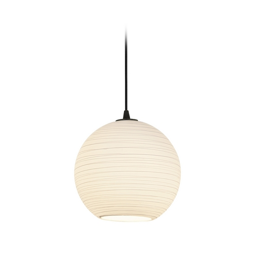 Access Lighting Modern Pendant Light with White Glass in Oil Rubbed Bronze Finish 28088-2C-ORB/WHTLN