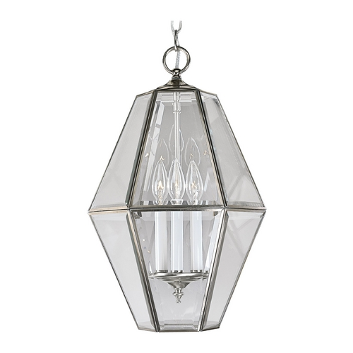 Progress Lighting Progress Beveled Glass Lantern Pendant Light P3716-09