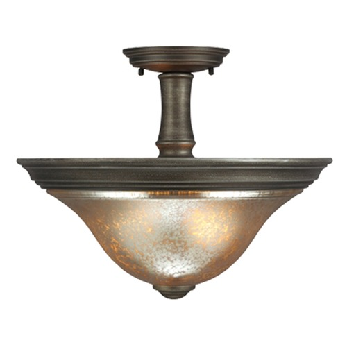 Sea Gull Lighting Mercury Glass Semi-Flushmount Light Bronze Sea Gull Lighting 7770402-736